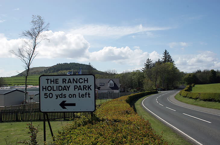 Entrance to The Ranch Holiday Park