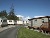Static caravans at The Ranch Holiday Park, Maybole